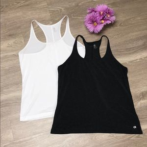 Grey and white Gap body tanks